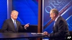 گفتگوی «بیل اورایلی» مجری شبکه فاکسنیوز با پرزیدنت ترامپ