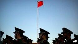 중국 베이징 톈안먼 광장의 오성기. (자료사진)