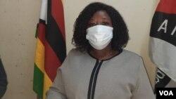 Unobhala weMDC Alliance obona ngobudlelwano baleli bandla lamanye amazwe, uNkosazana Gladys Hlatshwayo. (VOA)