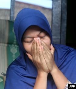 Baiq Nuril sesaat setelah pembacaan vonis bersalah karena melanggar UU ITE, 16 November 2018.