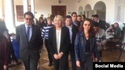 """Ex-fiscal general de Venezuela, Luisa Ortega Díaz, ofreció una conferencia de prensa en Colombia y pidió a EE.UU. y a todos los países """"solidaridad con Venezuela""""."""