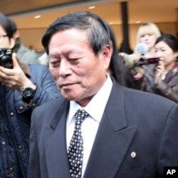 회담장으로 이동하는 리근 북한 외무성 미국 국장