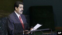 Nicolas Maduro, Foreign Minister of Venezuela, addresses the General Assembly during the 66th U.N. General Assembly at UN Headquarters Tuesday, Sept. 27, 2011.
