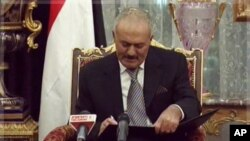 صدر صالح کی امریکہ آمد