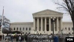 Diferentes grupos y organizaciones se manifestaron frente a la Corte Suprema de Justicia, en Washington.