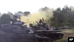台灣陸軍舉行演習(資料圖片)