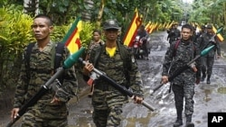 Moro Islamic Liberation Front (MILF) rebels in Maguindanao province, Philippines, Sept. 5 2011.