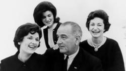 Lynda Bird Johnson, Luci Baines Johnson, President Lyndon B. Johnson, Lady Bird Johnson