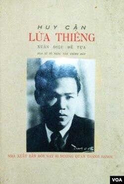 Ảnh bìa tập thơ Lửa Thiêng của Huy Cận ấn bản Đời Nay 80 đường Quan Thánh Hà-Nội. (Hình: Tác giả cung cấp)