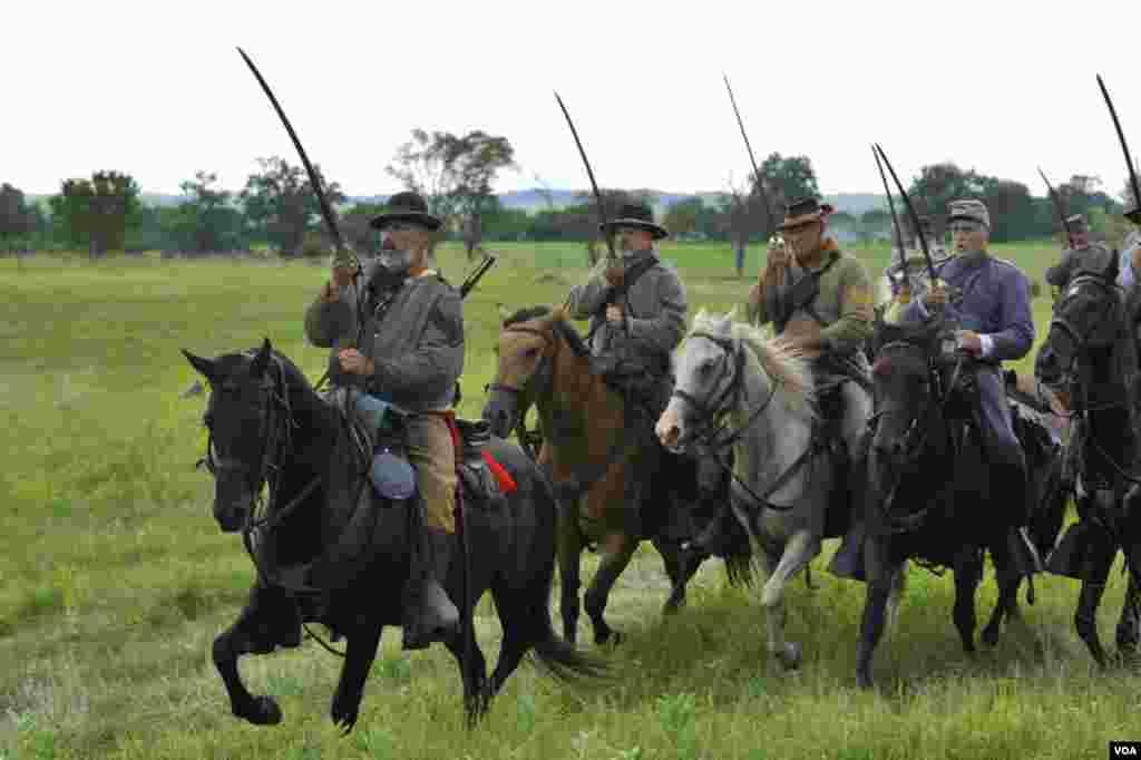 Конница армии конфедератов. Атака