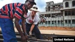 앙골라에서 중국의 투자로 철도 건설을 진행 중이다. (자료사진)