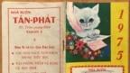 Cuốn lịch bỏ túi năm 1975 tác giả còn lưu giữ (Ảnh Bùi Văn Phú)