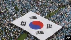 韩国民众6月6日举行大型反对朝鲜集会纪念国殇日