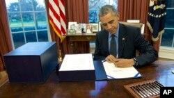 کاخ سفید می گوید چون طرح جدید جمهوریخواهان می تواند توافق هسته ای ایران وغرب را نقض کند، اوباما آن را وتو خواهد کرد.