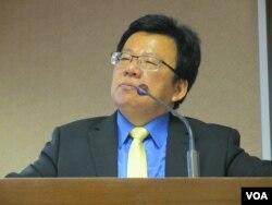 台湾在野党民进党立委李俊俋(美国之音张永泰拍摄)