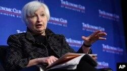 Federal Reserve Chair Janet Yellen at the Economics Club of Washington, Dec. 2, 2015.