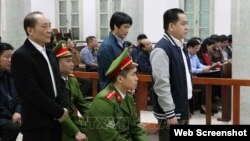 Ông Phan Văn Anh Vũ tại một phiên tòa ở Hà Nội, ngày 30/1/2019. Photo: TTXVN.