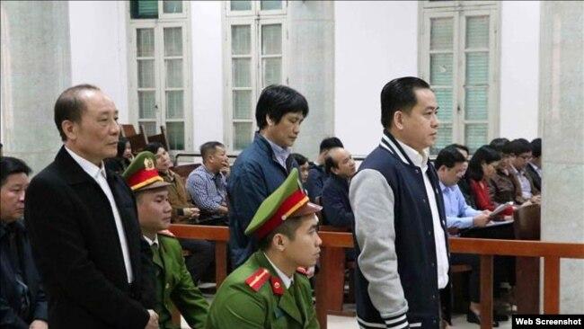 Ông Phan Văn Anh Vũ tại một phiên tòa ở Hà Nội, ngày 30/1/2019. Photo TTXVN.