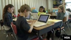 Students at Taylor Elementary school in Arlington, Virginia.