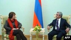 Հայաստանի նախագահն ընդունել է ԵՄ-ի բարձր ներկայացուցիչ Քեթրին Էշթոնին