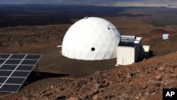Six carefully selected scientists entered this geodesic dome called Hawaii Space Exploration Analog and Simulation, or HI-SEAS, located 8,200 feet above sea level on Mauna Loa on the island of Hawaii, Jan. 19, 2017, as part of a human-behavior study. (University of Hawaii)