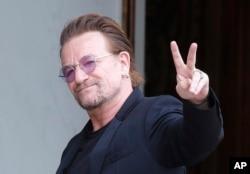Vokalis U2 Bono