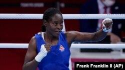Jogos Olímpicos - Alcinda Helena Panguana, pugilista moçambicana no ringue a 27 de Julho de 2021