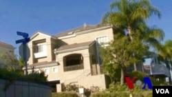 美國加州洛杉磯縣的一個月子中心外觀(美國之音國符拍攝)