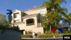 美国加州洛杉矶县的一个月子中心外观(美国之音国符拍摄)