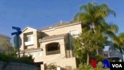 美國加州洛杉磯縣的一家月子中心外觀(美國之音國符拍攝)
