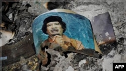 Müəmmər Qəzzafinin Tripolidəki iqamətgahının divarları uçurulub
