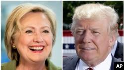 Capres AS: Hillary Clinton (partai Demokrat, kanan), dan Donald Trump (partai Republik, kiri).