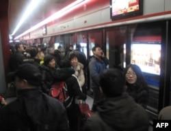 北京首都机场快轨站内