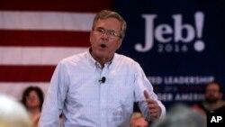 Ứng cử viên tổng thống của đảng Cộng hòa, cựu Thống đốc bang Florida Jeb Bush tại một điểm dừng chân trong chiến dịch tranh cử ở Manchester, New Hampshire, ngày 01/2/2016.