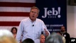Le candidat républicain Jeb Bush, ancien gouverneur de Floride, à Manchester, N.H., le 1 février 2016.