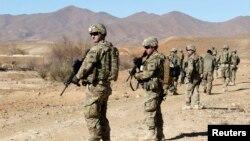 Us solder in Afghanistan