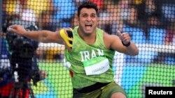 احسان حدادی در رشته پرتاب دیسک در المپیک موفقیتی کسب نکرد.
