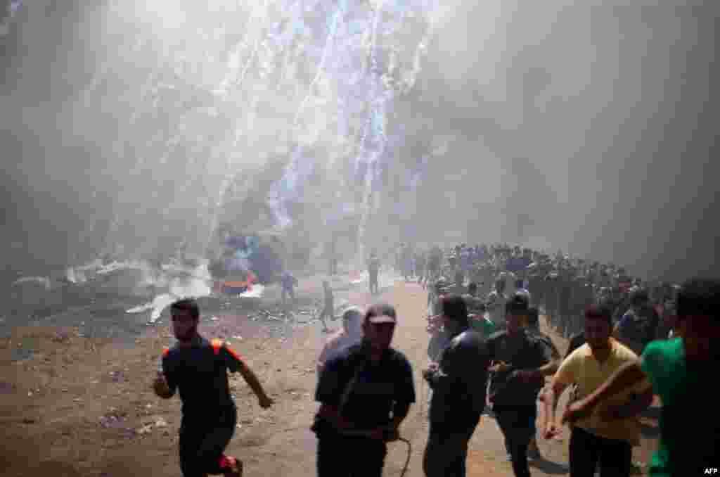 주 이스라엘 미국 대사관이 예루살렘으로 이전한 가운데, 이에 반발하는 시위가 가자지구에서 벌어지고 있다.