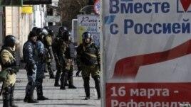 Thủ Tướng lâm thời Ukraina Arseniy Yatsenyuk mô tả cuộc biểu quyết ở Crimea được Nga hậu thuẫn, là 'trò hề' do Moscow đạo diễn dưới họng súng.
