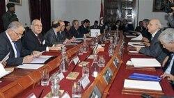اولین جلسه کابینه دولت انتقالی تونس پس از سرنگونی دولت زین العابدین بن علی - ۲۰ ژانویه ۲۰۱۱