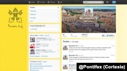 Trang Twitter của Đức Giáo Hoàng