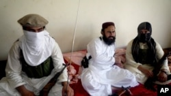 In this July 28, 2011 file photo, Taliban No 2 commander Waliur Rehman talks to the Associated Press during an interview in Shawal area of South Waziristan along the Afghanistan border in Pakistan.