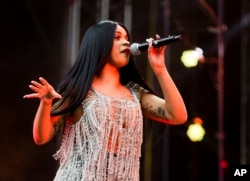 Cardi B performs at The Budweiser Made In America Festival on Saturday, Sept. 2, 2017, in Philadelphia.