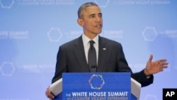 Presiden AS Barack Obama menutup KTT tentang pemberantasan ekstremisme disertai kekerasan di Washington DC (20/2).