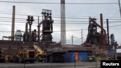 Idled blast furnaces at U.S. Steel Corp's Granite City Works in Granite City, Illinois, U.S. on on July 5, 2017.