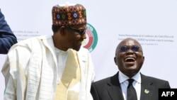 Shugaban Najeriya Muhammadu Buhari da na kasar Ghana Nana Akufor Addo a wajen Taron ECOWAS na 52