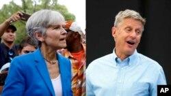 گری جانسون نامزد لیبرترین و جیل استین نامزد حزب سبز