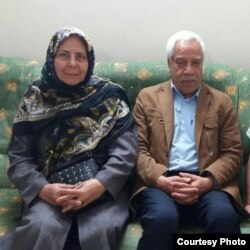 Sadigheh Maleki and her husband, Iranian teachers union leader Hashem Khastar.