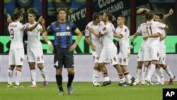 L'AS Rome au stade San Siro à Milan, en Italie, le 02 septembre 2012