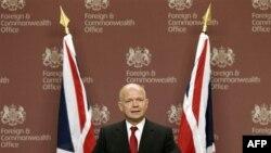 Britanski sekretar za inostrane poslove Vilijam Hejg na konferenciji za štampu u Londonu, 27. juli, 2011.